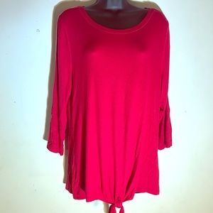 Inc red top 3/4 sleeve